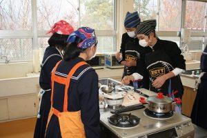 調理実習の写真