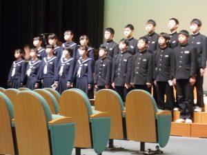 卒業式練習の写真