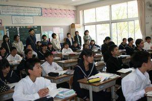授業参観の写真