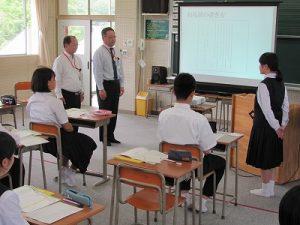 手紙の書き方授業の写真