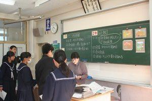 美術の授業の写真