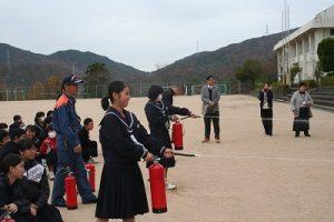 消火訓練の写真